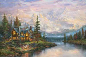 Cathedral Mountain Lodge by Thomas Kinkade