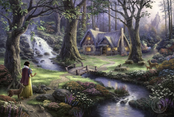 Snow White Discovers the Cottage SOLD